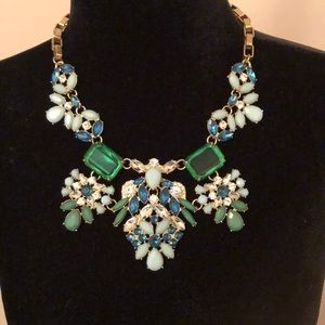 Talbot's Emerald and Turquoise Statement Necklace